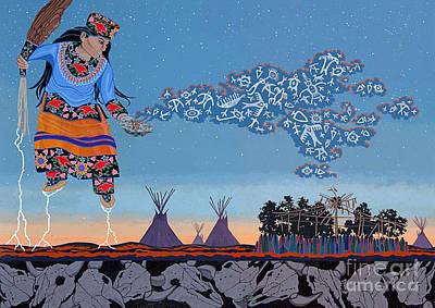 Sundance Painting - Lightning Walker by Chholing Taha