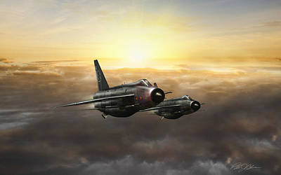 Lightnings On The Horizon Print by Peter Chilelli