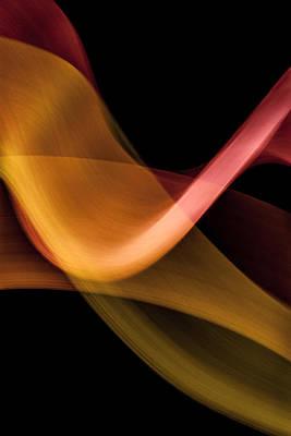 Light Photograph - Lightpainting - Orange Flamenco by Dave Markman
