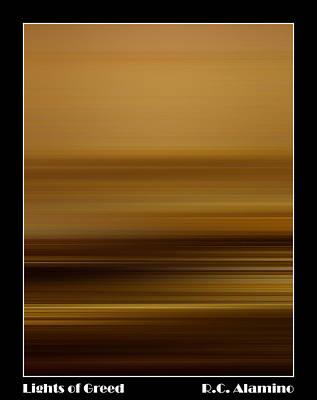 Lights Of Greed Print by Roberto Alamino