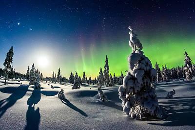 Moonlit Night Photograph - Lights Of Winter by Mikko Karjalainen
