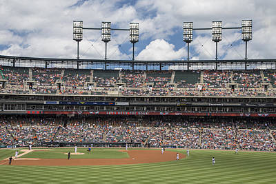 Lights On At Comerica Park Print by John McGraw