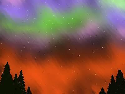 Dipper Digital Art - Lights Over Alaska by Constance Carlsen