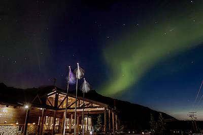 Dipper Digital Art - Lights Over Princess Denali Lodge by Thomas Sellberg