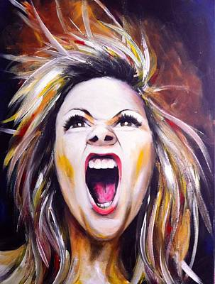 Shouting Painting - Like A Lion by Carrie Bennett
