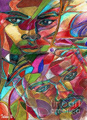 Multi-color Digital Art - Like Father Like Son by Teleita Alusa