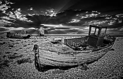Trawler Photograph - Like Moths To The Flame by Meirion Matthias