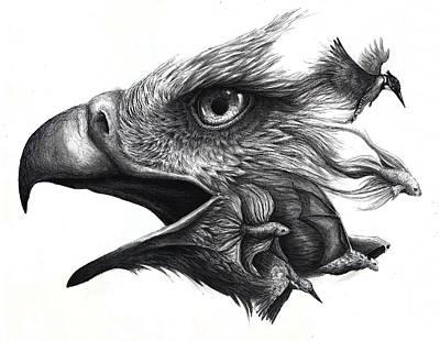 Kingfisher Drawing - Like Smoke by Danielle Trudeau