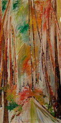 Painting - Like The Trees Always Looking Up by PainterArtist FIN