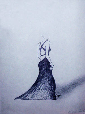 Lil' Black Dress Print by Cynthia Hilliard