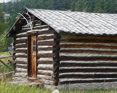 Log Cabin Photograph - Lil Ranch by Heather MacKenzie