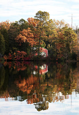 Lil Red On The Lake Print by John Rizzuto