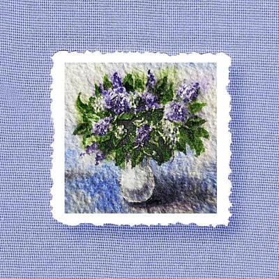 By Irina Painting - Lilac Bouquet  by Irina Sztukowski