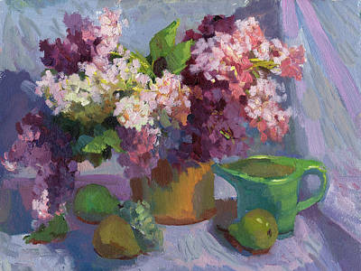 Lilacs And Pears Original by Diane McClary