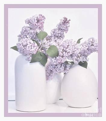 Wrap Digital Art - Lilacs Lavendar by Marsha Heiken
