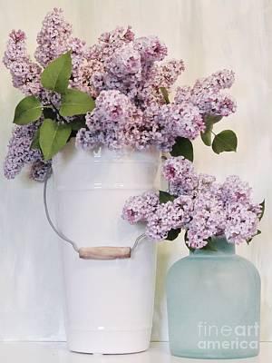 Wrap Digital Art - Lilacs Still Life by Marsha Heiken