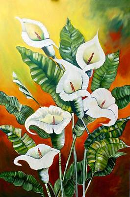 Boardroom Painting - Lillies by Susan Robinson