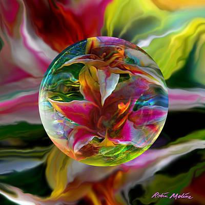 Spheres Digital Art - Lillium Bulbiferum by Robin Moline
