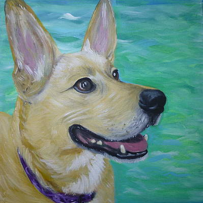 Blue Healer Painting - Lilly By A River by Kirsten Sneath