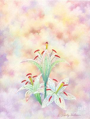 Lily In Triplicate Original by Charity Goodwin