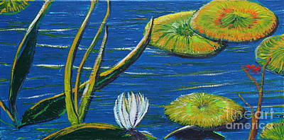 Landscapes Painting - Lilly Pads by Stefan Duncan
