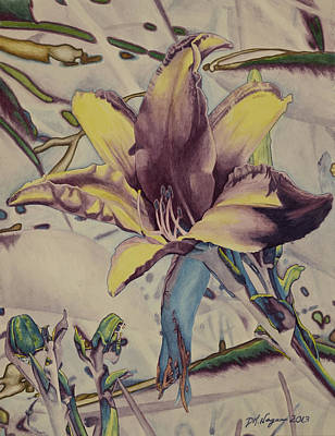 Tropical Art Painting - Lily Brite by DK Nagano