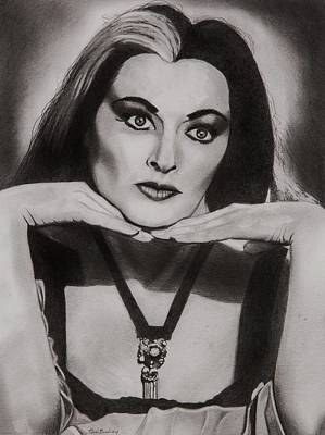 Mockingbird Drawing - Lily Munster by Brian Broadway