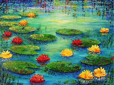Lily Pond Print by Teresa Wegrzyn