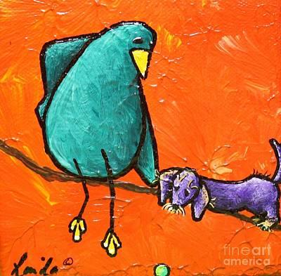 Limb Birds - You Get It Print by Linda Eversole
