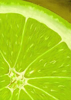 Salad Painting - Lime by Anastasiya Malakhova