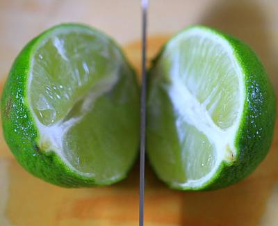 Lime Photograph - Lime Halves by Dan Sproul
