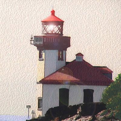 Lime Kiln Lighthouse Original by John Hines