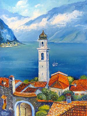 Russian Icon Painting - Limone-lago Di Garda by Mikhail Zarovny