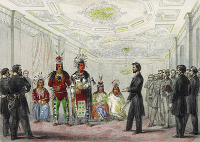 Lincoln And American Indian Chiefs, 1863 Print by British Library