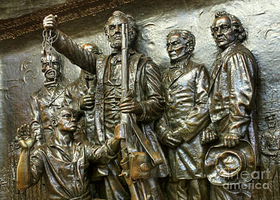 Lincoln Arming The Freed Slaves Print by David Bearden