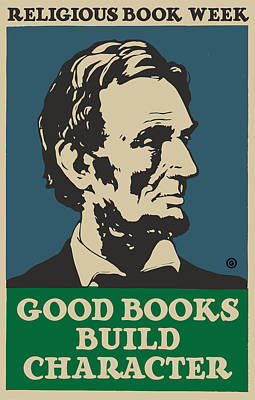 Modern Digital Art - Lincoln Book Poster by Gary Grayson