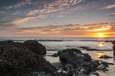 Lincoln City Beach Sunset - Oregon Coast Print by Brian Harig