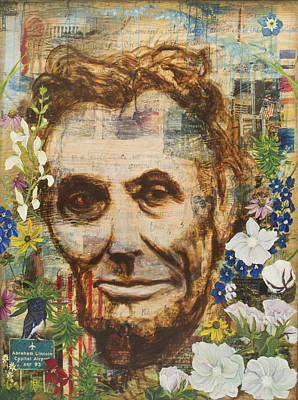 Painting - Lincoln Crossed My Mind by Andrea LaHue aka Random Act