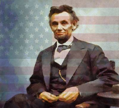Proclamation Painting - Lincoln by Dan Sproul