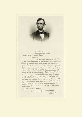 Lincoln Letter Print by Gary Grayson