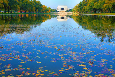 Lincoln Memorial And Reflecting Pool I Print by Steven Ainsworth