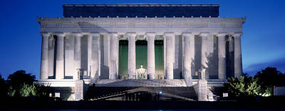 Lincoln Memorial Photograph - Lincoln Memorial At Dusk, Washington by Panoramic Images