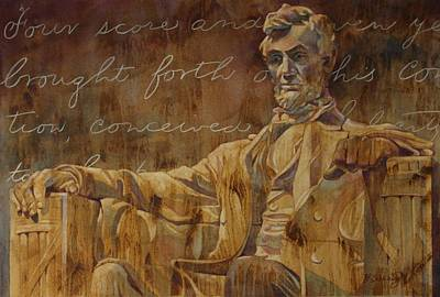 Lincoln Memorial Painting - Lincoln Memorial by Barbara Scheihing