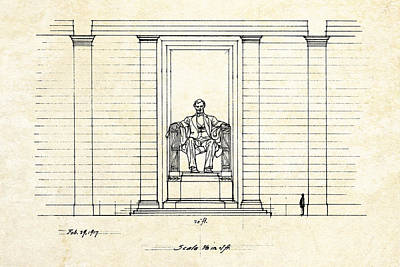 Lincoln Memorial Sketch Print by Gary Bodnar