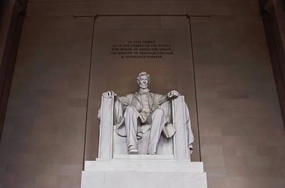 Lincoln Memorial Digital Art - Lincoln Memorial Statue by Bill Cannon
