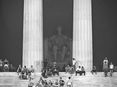 Lincoln Memorial Photograph - Lincoln Memorial - Washington Dc by Mike McGlothlen