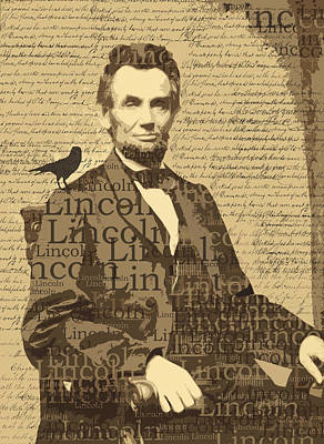 Congress Digital Art - Lincoln by Nancy Merkle