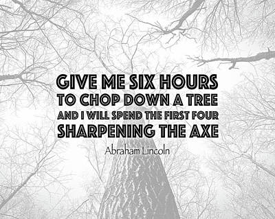 Lincoln Tree Quote Print by Tara Moss