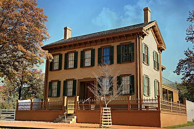 Log Cabin Photograph - Lincoln's Home -- Springfield by Stephen Stookey