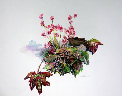 Linda Begonias Original Print by Mindy Newman